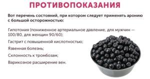 Противопоказания применения черноплодной рябины