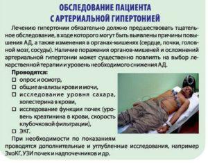 Обследование пациента с гипертонией