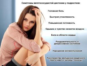 Симптомы ВСД у подростков
