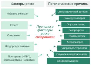 Причины и факторы риска гипертонии